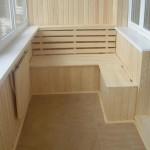 Отделка балкона деревянной вагонкой – природный уют