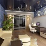 Натяжные потолки в интерьере квартиры