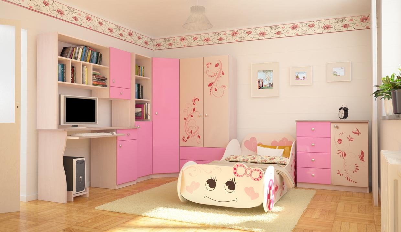 модульная детская мебель для девочки
