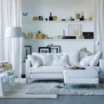 Скандинавский угловой диван