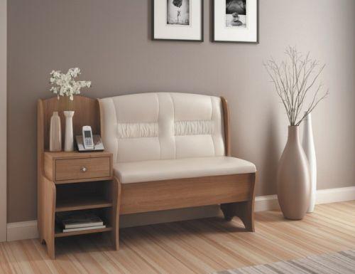 Удобный диван с полками в прихожую