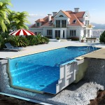 Строительство бассейна для коттеджа