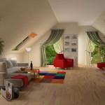 Какой дизайн интерьера лучше всего применять для оформления мансарды?