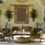 Интерьер дома с живыми цветами