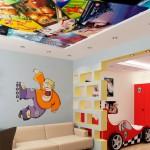 Несколько идей для оформления потолка в детской комнате